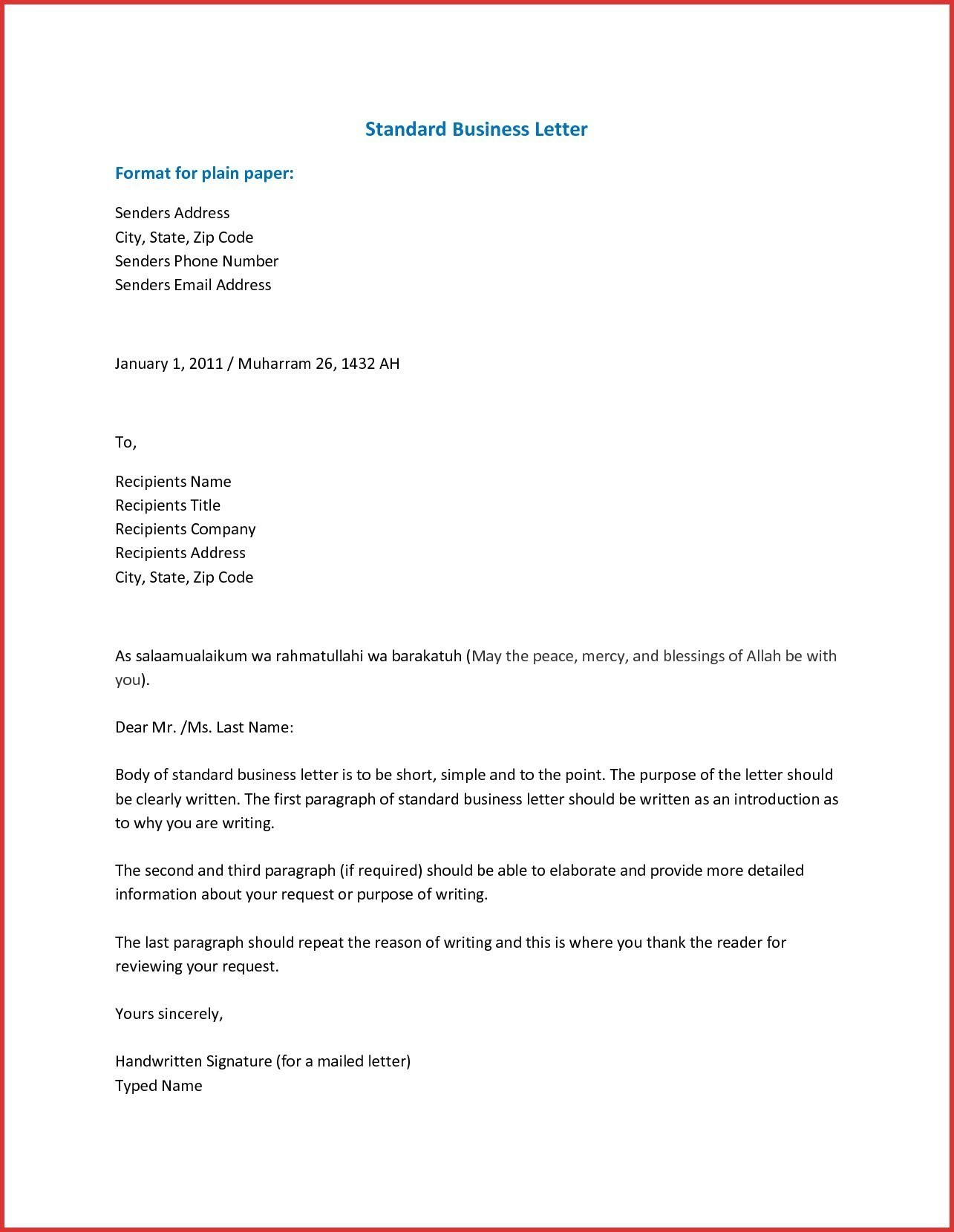 Format Of Business Letter Address Fresh Proper Business Letter