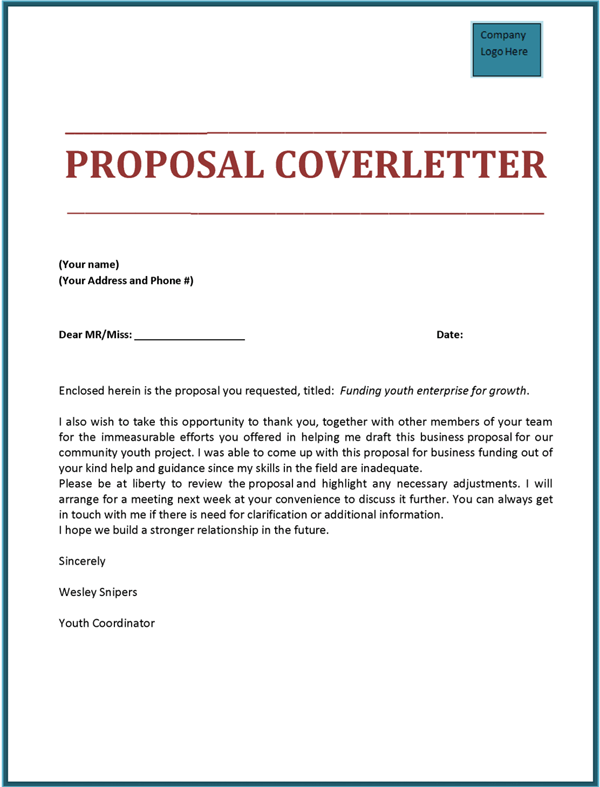 Proposal Cover Letter | tools | Pinterest | Cover letter sample