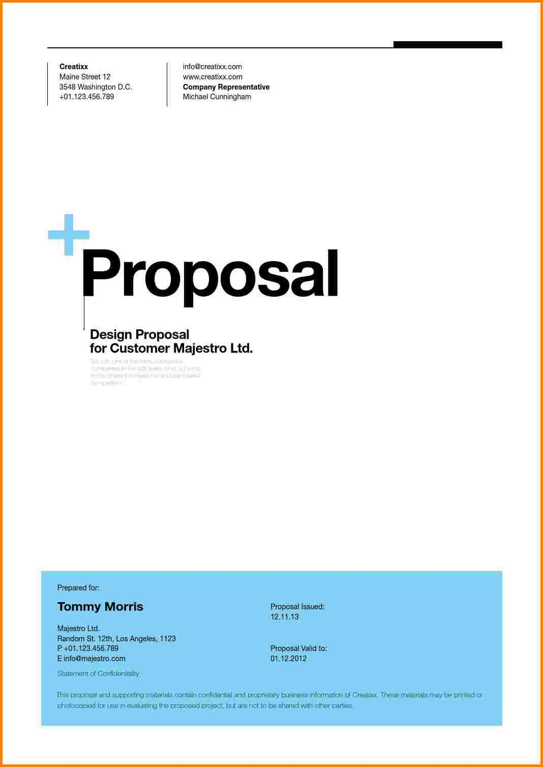 cover page of proposal Romeo.landinez.co