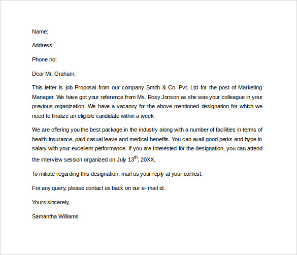 template for proposal letter sample proposal letter 13 free