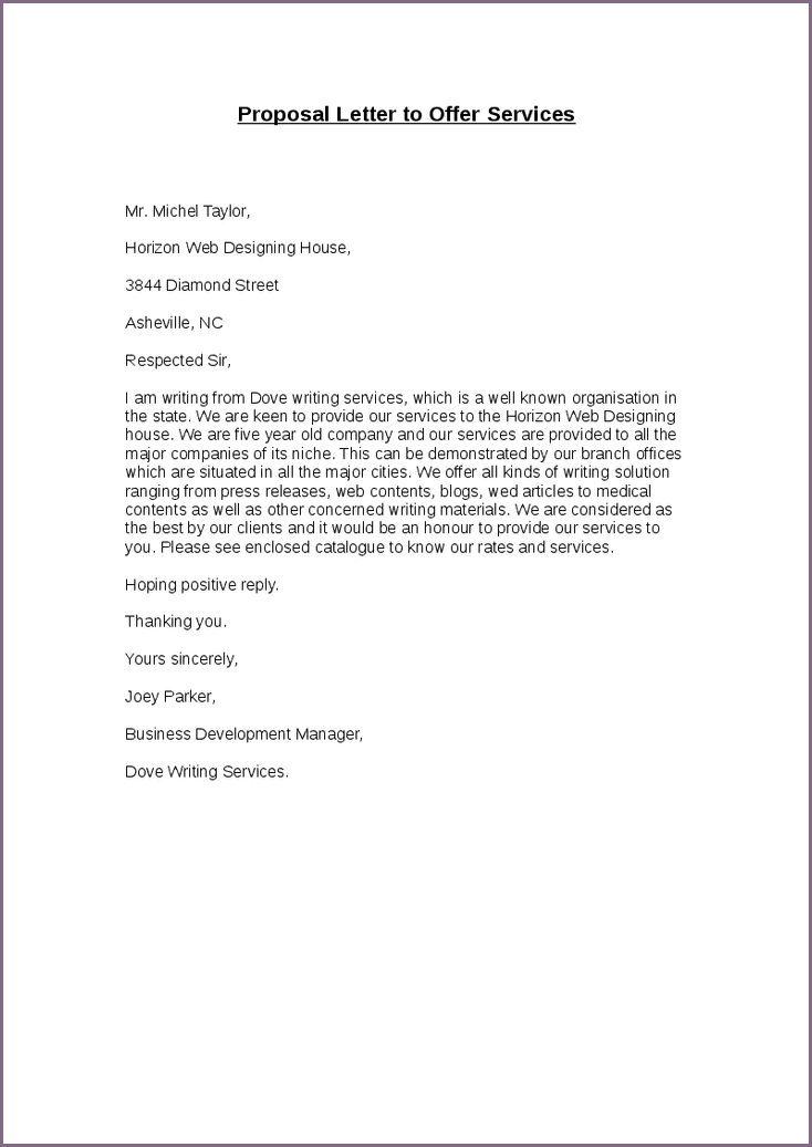 Uncategorized. 16 How To Write A Business Letter Offering Services