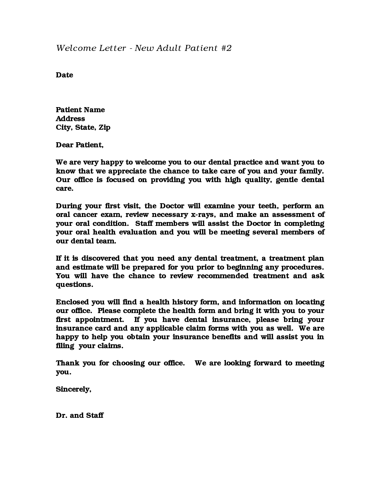 Business Referral Thank You Letter Gallery Letter Format Formal