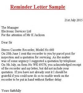 How to write a reminder letter Research paper Academic Writing