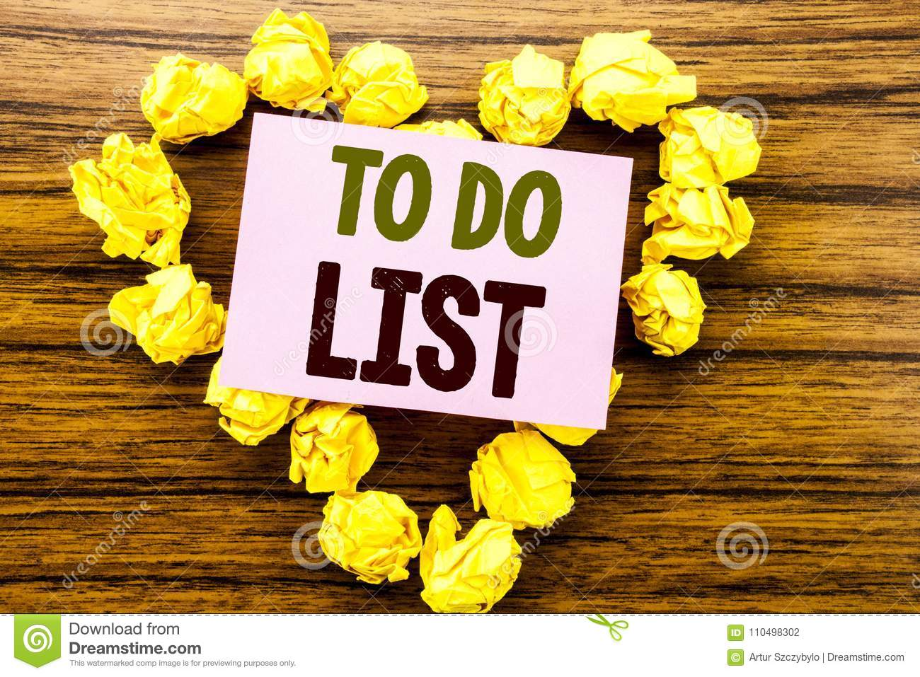 Word, Writing To Do List. Business Concept For Plan Lists Remider