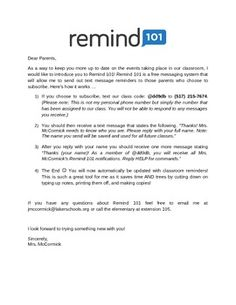 Parent Instructions for Remind | Pinterest | Parents, School and