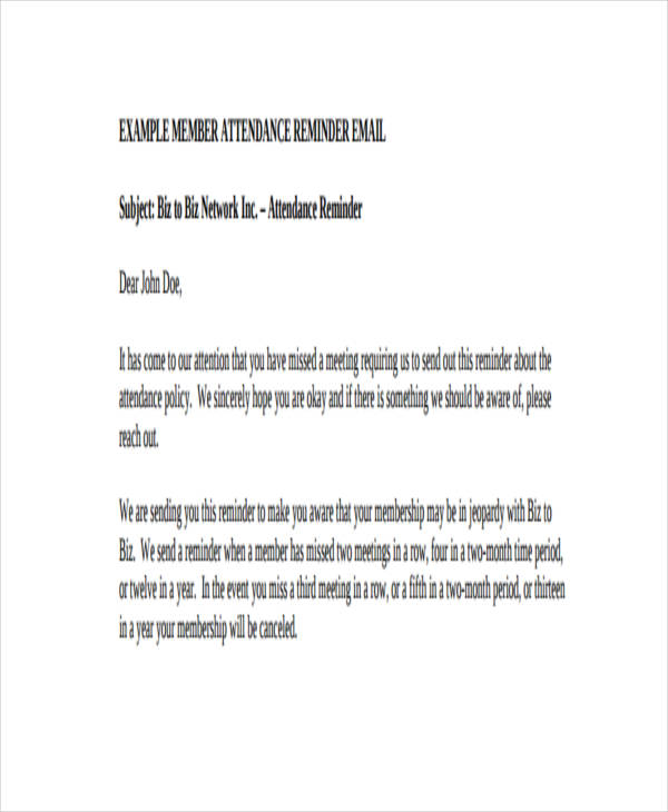 Friendly Reminder Email 7+ Free Word, PDF Documents Download