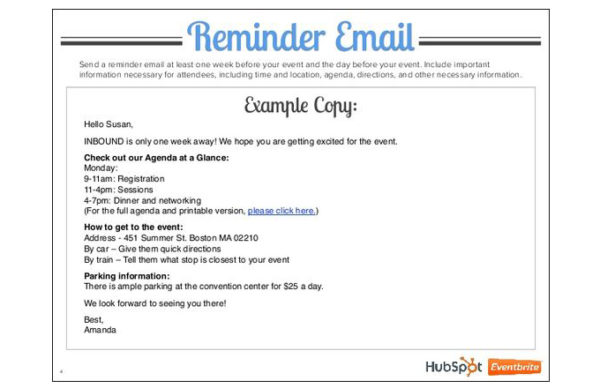 13 Great Event Reminder Email Techniques That Really Work