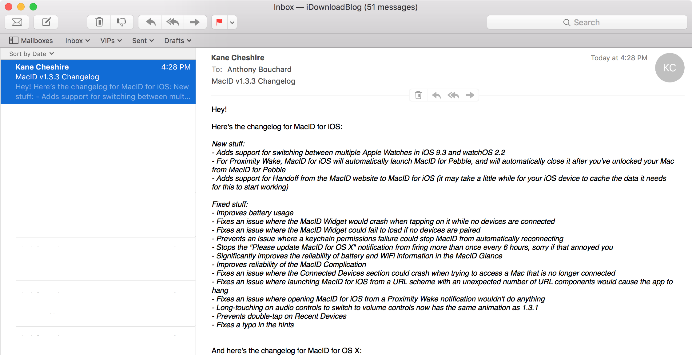 How to turn an email into a reminder on Mac