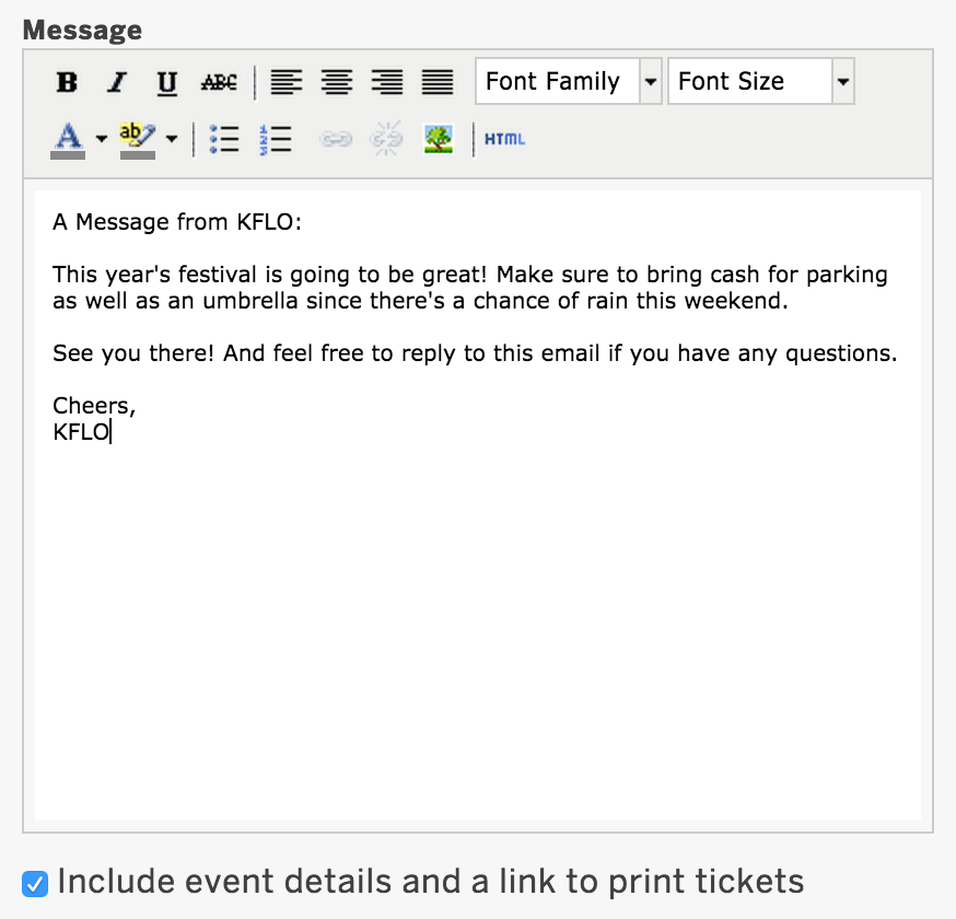 How to email your attendees through Eventbrite   Eventbrite Help