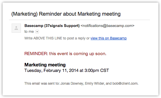 Email Reminders & Follow ups