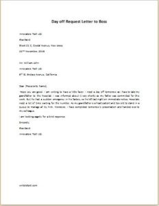 How to write an application letter your boss