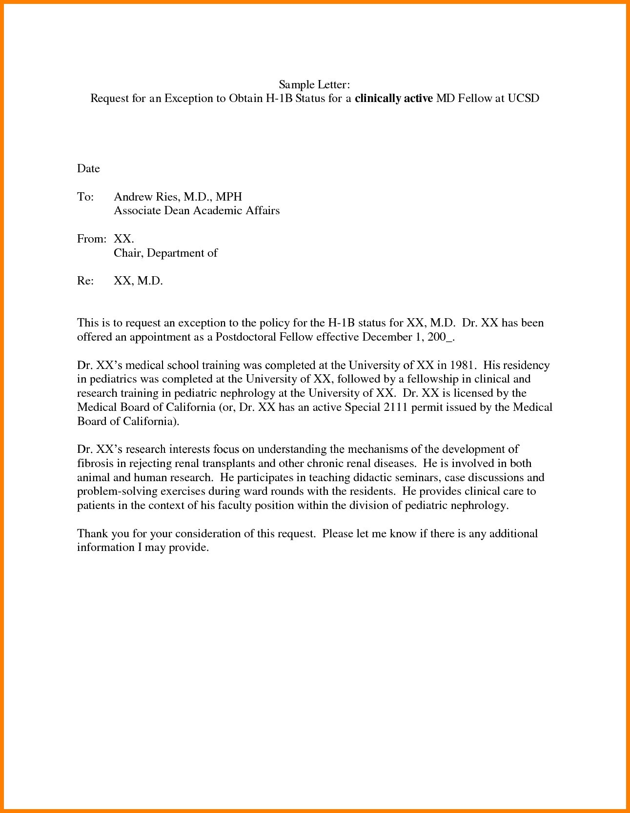 request for training letter