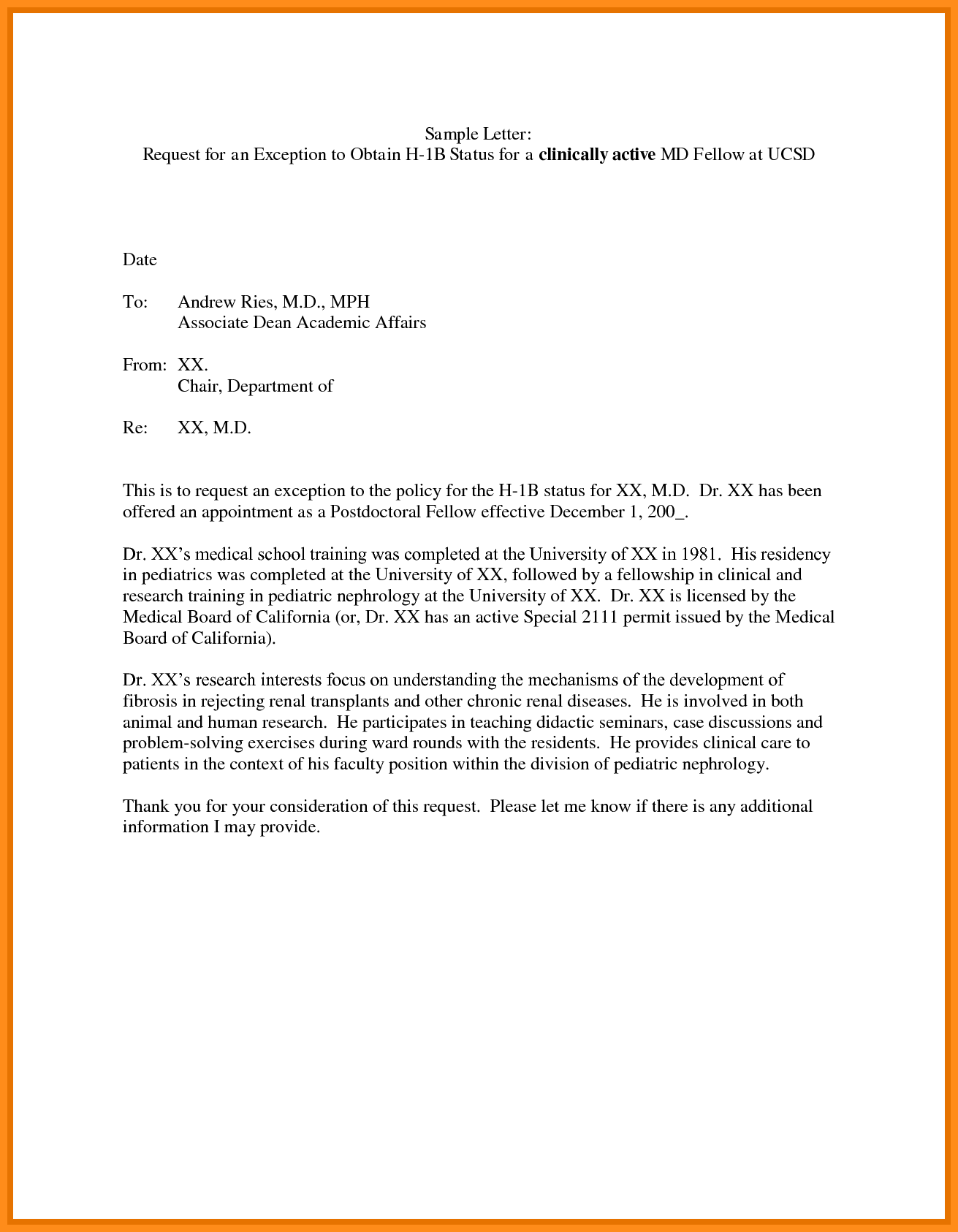 Training request letter for others excellent internship