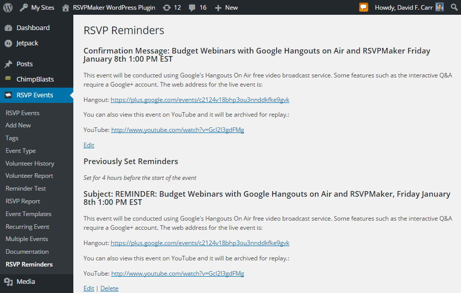 Webinars on a Budget with Google Hangouts On Air and RSVPMaker for