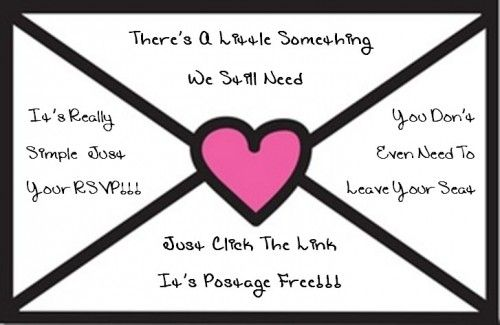 A cute, non aggressive, way to remind your guests to send those
