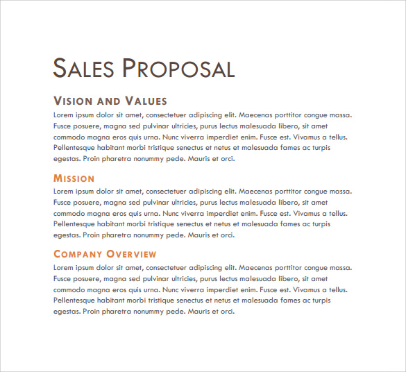 Sales Proposal Letters | scrumps