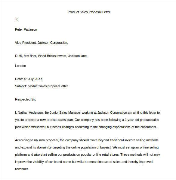 sales proposal letter template proposal letter template 24 free