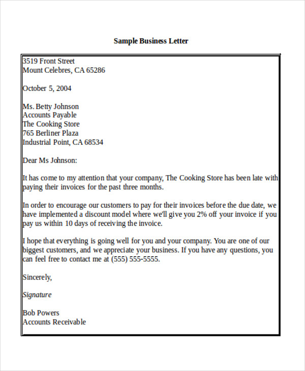 5+ Sample Business Letter Salutations | Sample Templates