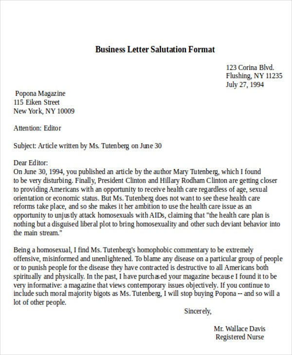 Proper Business Letter Format Greeting — Stepstogetyourexback.com