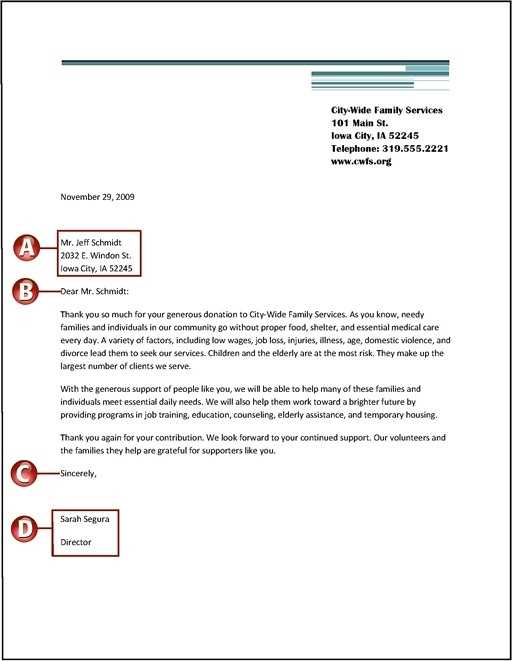 Salutation Letter Format Images Letter Format Formal Example