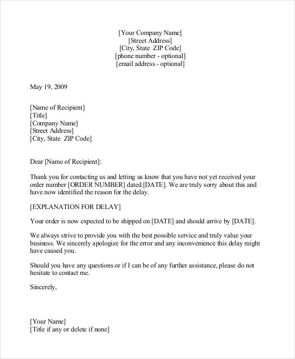 Sample Apology Letter Templates 13+ Free Word, PDF Documents