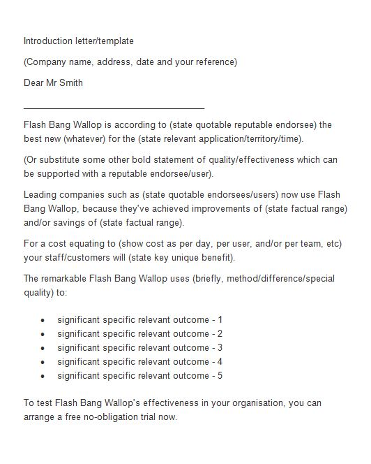 Sample Business Letters Of Introduction Scrumps