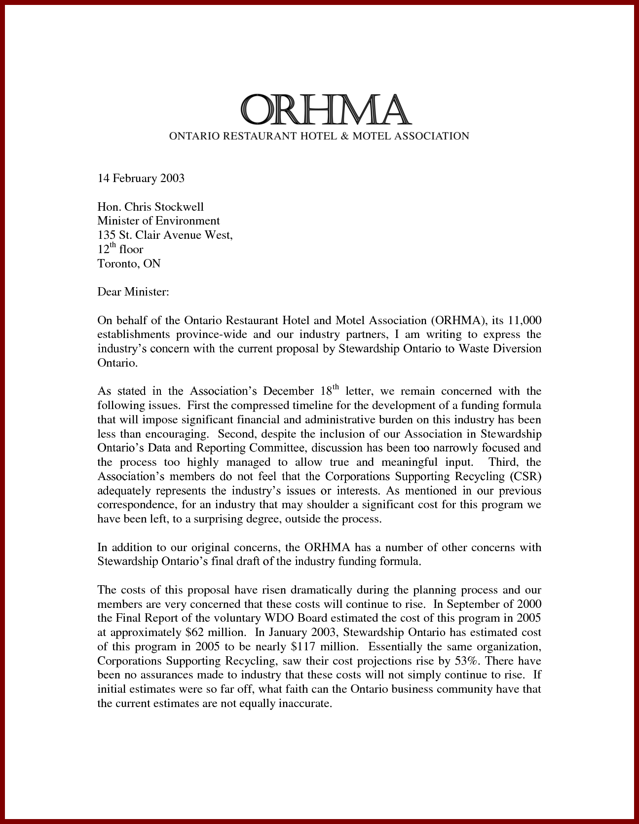 Draft Business Proposal Letter Sample To Offer Services