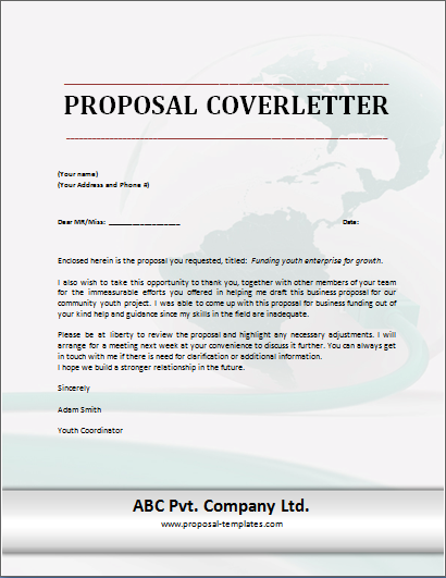 Sample Cover Letter For Proposal Scrumps