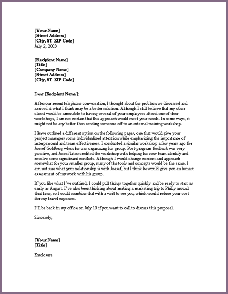 cover letter for proposal cover letter for proposal sample