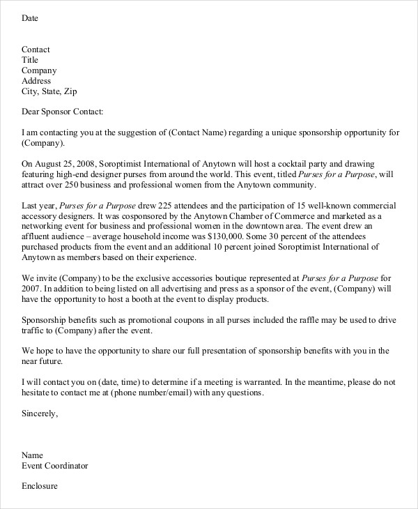 sample letter asking business for donations – down town ken more