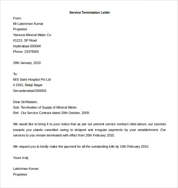 termination contract letter Muck.greenidesign.co