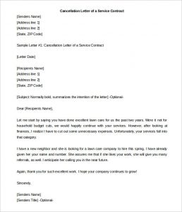 similar posts sample letter of cancellation of services