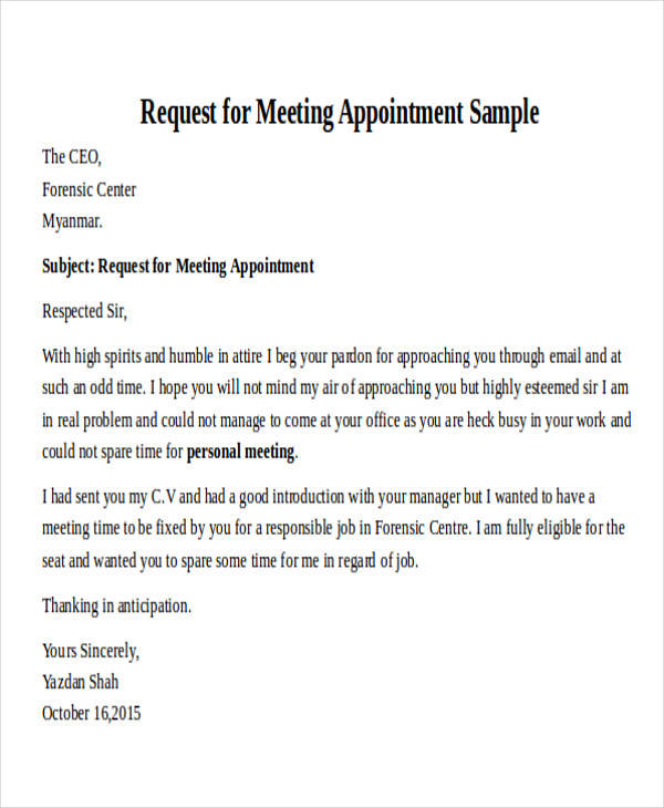30+ Formal Request Letters | Sample Templates