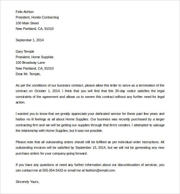 letter of cancellation of services Boat.jeremyeaton.co