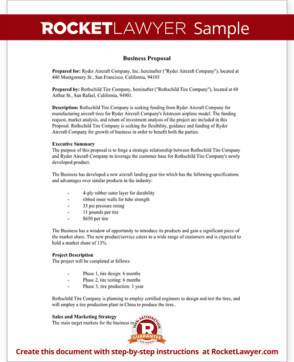 Business Proposal Template Free Business Proposal Sample Business