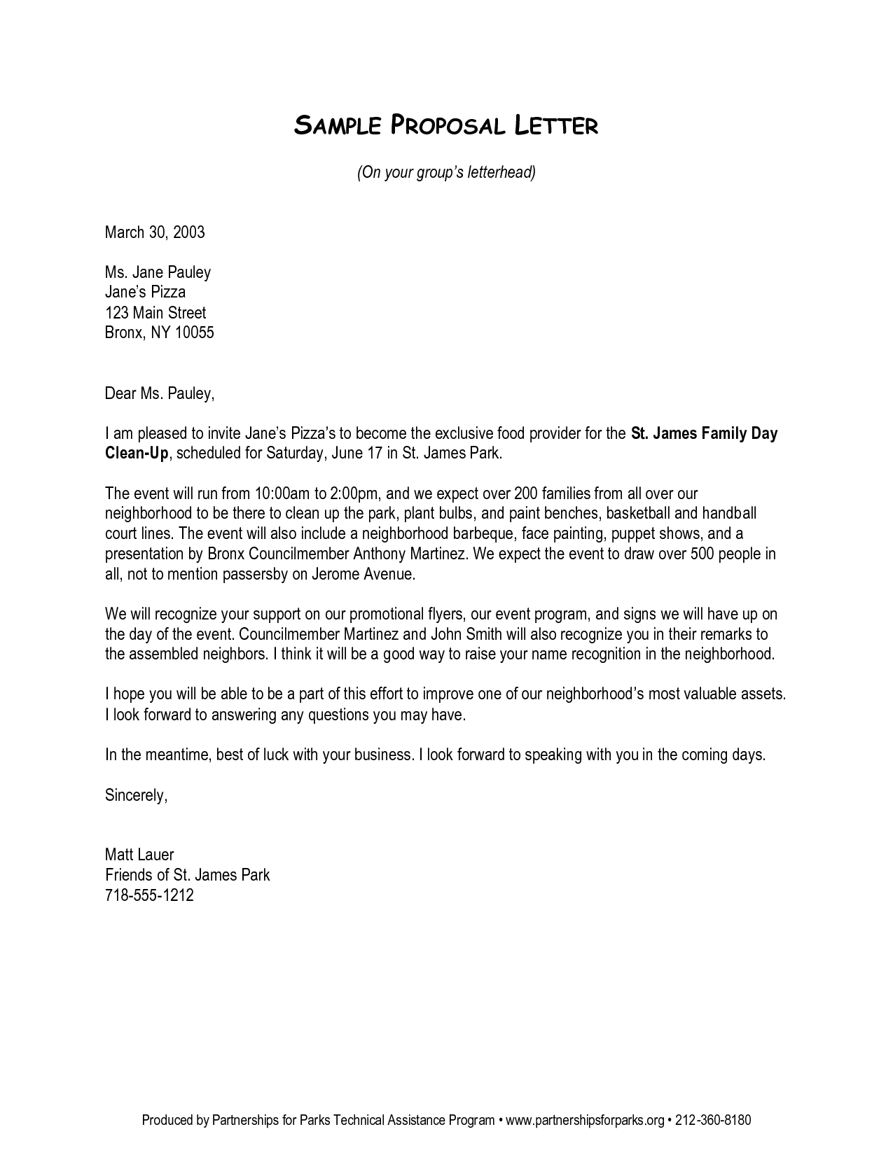 letter of proposal template