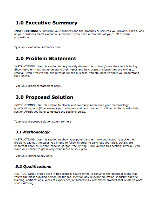Business Proposal Template — Free Download | Bplans