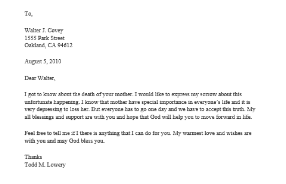 41 condolence & sympathy letter samples template lab.