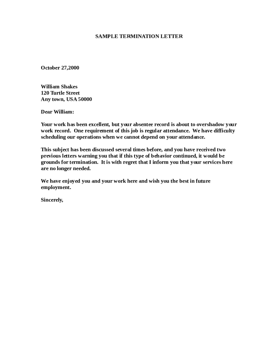 sample of job termination letter Boat.jeremyeaton.co