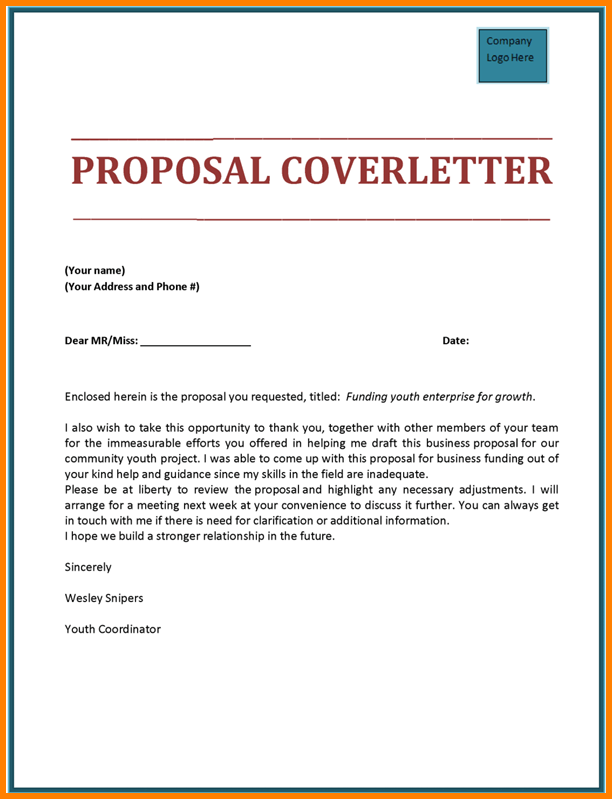 template for writing a proposal