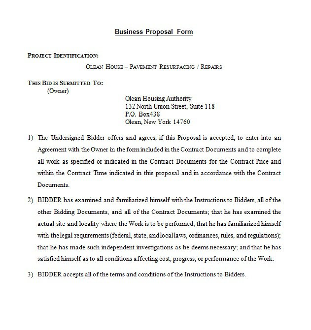 sample contract proposal letter Boat.jeremyeaton.co