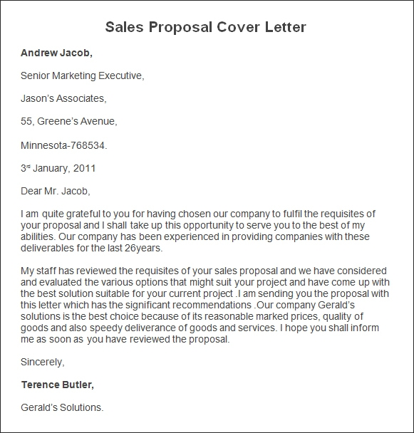 Sample Sales Proposal Letter Scrumps