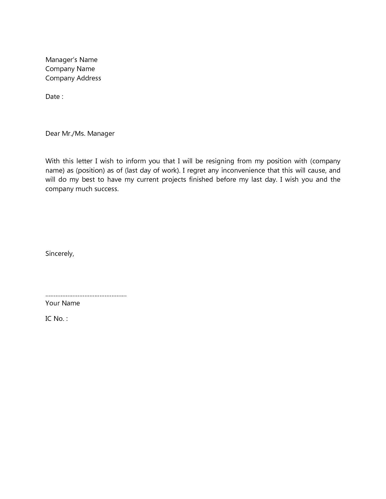 10+ best of resignation letter sample format | todd cerney.