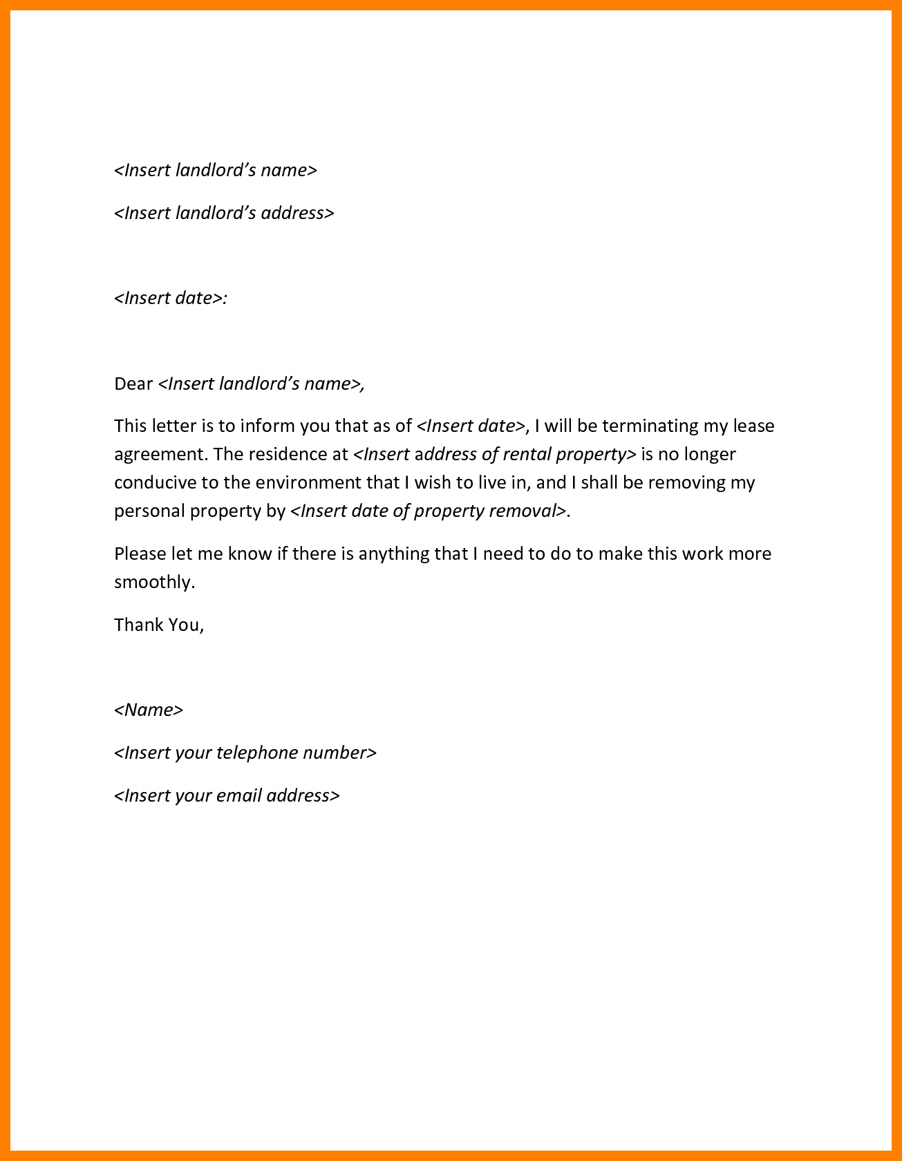 4 Sample Termination Letters + Easy Template