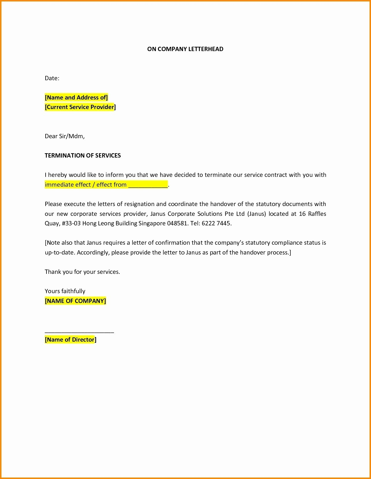 Visa Cancellation Letter Format Uae Best Of Sample Service