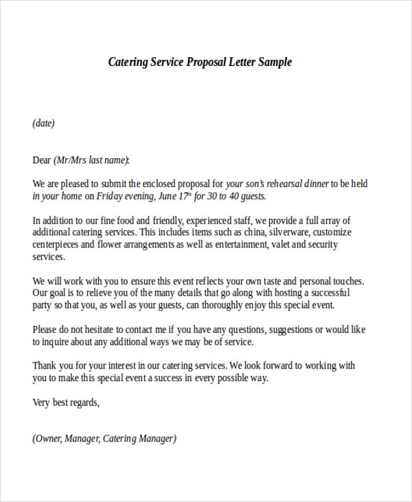 security service proposal template sample service proposal letter