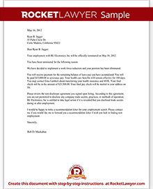 Sample Termination Letter for Letting an Employee Go | Justworks