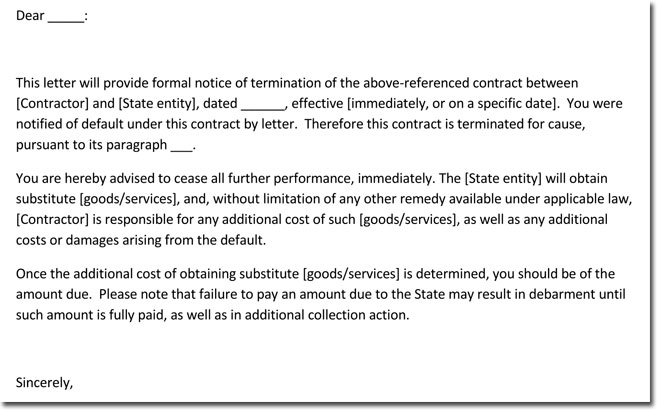 vendor service termination letter Romeo.landinez.co