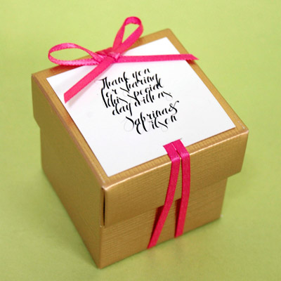 DIY Thank You Note Favor Boxes Ideas by Beau coup