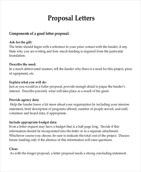 Project Proposal Letter Template Henrycmartin.com